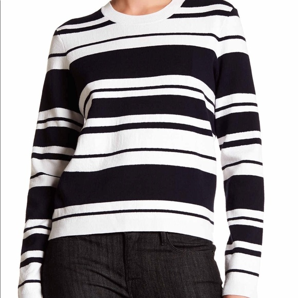 a880acc056a79 Frame Denim Sweaters | Frame Navy And White Striped Sweater | Poshmark